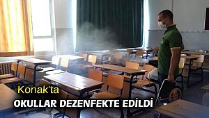 Konak'ta okullar dezenfekte edildi