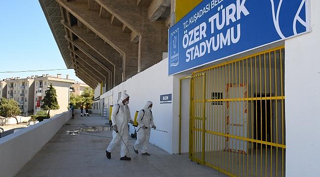 ÖZER TÜRK STADI KUŞADASISPOR'UN İLK 3. LİG MAÇINA HAZIR