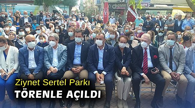 Ziynet Sertel Parkı törenle açıldı