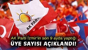 AK Parti İzmir'in son 9 ayda yaptığı üye sayısı açıklandı!