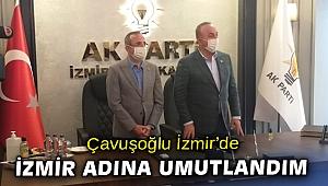 Bakan Çavuşoğlu, Ak Parti İzmir İl Başkanlığını ziyaret etti
