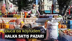 Buca'da köylüden halka satış pazarı