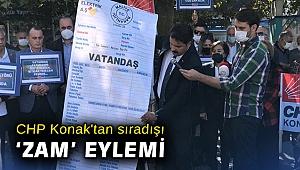 CHP Konak'tan sıradışı 'zam' eylemi
