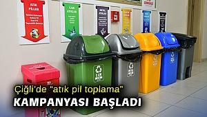 """Çiğli'de """"atık pil toplama"""" kampanyası başladı"""