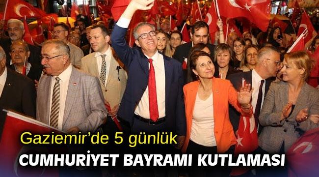 Gaziemir'de 5 günlük Cumhuriyet Bayramı kutlaması