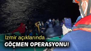 İzmir açıklarında göçmen operasyonu!