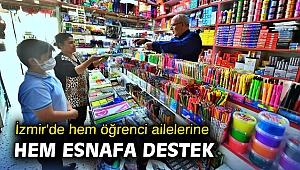İzmir'de hem öğrenci ailelerine hem esnafa destek