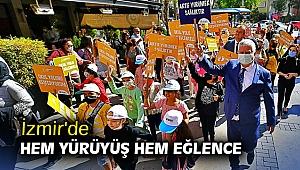 İzmir'de hem yürüyüş hem eğlence