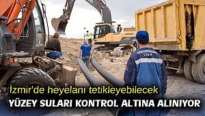 İzmir'de heyelanı tetikleyebilecek yüzey suları kontrol altına alınıyor
