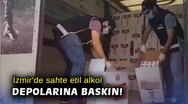 İzmir'de sahte etil alkol depolarına baskın: 8 gözaltı
