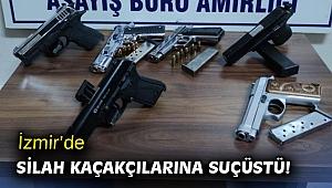 İzmir'de silah kaçakçılarına suçüstü!