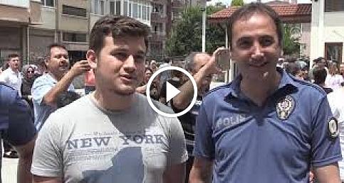 15.06.2019 YKS sınavına geciken öğrenciyi polisler yetiştirdi